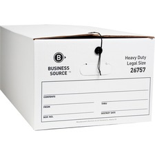 BSN 26757 Bus. Source Heavy Duty Legal Size Storage Box BSN26757