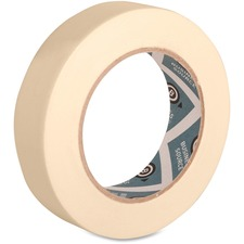 "Business Source Utility-purpose Masking Tape - 1"" (25.4 mm) Width x 60 yd (54.9 m) Length - 3"" Core - Crepe Paper Backing - 1 Roll - Tan"