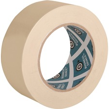 "Business Source Utility-purpose Masking Tape - 2"" (50.8 mm) Width x 60 yd (54.9 m) Length - 3"" Core - Crepe Paper Backing - 1 Roll - Tan"