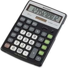 SHR ELR297BBK Sharp EL-R297B Large Desktop Calculator SHRELR297BBK