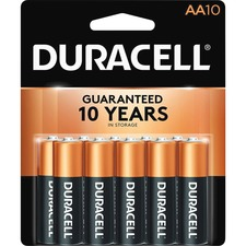 DUR MN1500B10Z Duracell Coppertop AA Batteries DURMN1500B10Z