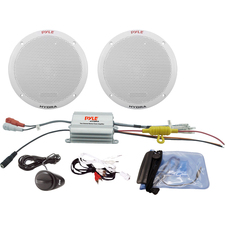 Pyle 2 Channel Waterproof MP3/iPod Amplified 6.5'' Marine Speaker System