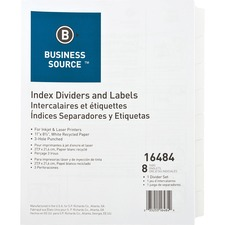 BSN 16484 Bus. Source 3-tab Punched Index Dividers BSN16484