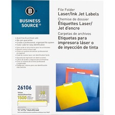 BSN 26106 Bus. Source Laser/Inkjet File Folder Labels BSN26106