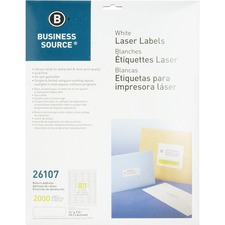 BSN 26107 Bus. Source Address Laser Labels BSN26107