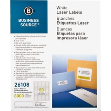 BSN 26108 Bus. Source Address Laser Labels BSN26108