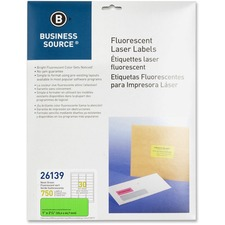 "BSN 26139 Bus. Source 1"" Fluorescent Laser Labels BSN26139"