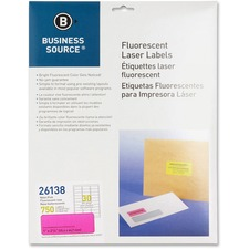 "BSN 26138 Bus. Source 1"" Fluorescent Laser Labels BSN26138"