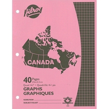 """Hilroy 12984 Graph Exercise Quadrille Book - 40 Sheet - Quad Ruled - Letter 8.5"""" x 11"""""""
