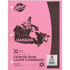 "Hilroy 12692 Canada Excercise Book - 32 Sheet - Ruled - Letter 8.5"" x 11"" - 4 / Pack"