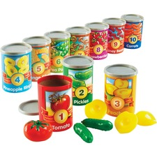 LRN LER6800 Learning Res. 1-10 Counting Cans Set LRNLER6800