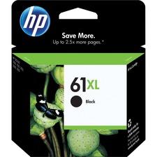 HP 61XL Original Ink Cartridge - Single Pack - Inkjet - High Yield - 480 Pages - Black - 1 Each