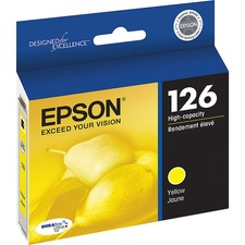 Epson DURABrite 126 Original Ink Cartridge - Inkjet - Yellow - 1 Each
