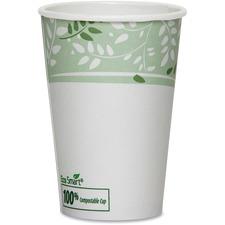 DXE 2342PLA Dixie Foods EcoSmart Viridian Paper Hot Cups DXE2342PLA