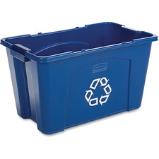 RCP 571873BE Rubbermaid Comm. 18-gallon Recycling Box RCP571873BE