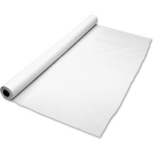 TBL BIO1403WH Tablemate Banquet Size Plastic Table Cover Roll TBLBIO1403WH