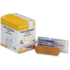 """FAO G122 First Aid Only 1""""x3"""" Fabric Bandages FAOG122"""