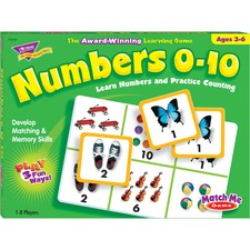 TEP T58102 Trend Match Me Numbers 0-10 Learning Game TEPT58102