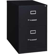 LLR 60661 Lorell Commercial-grade Black Deep Vertical Files LLR60661