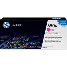 HP 650A Original Toner Cartridge - Single Pack - Laser - 15000 Pages - Magenta - 1 Each