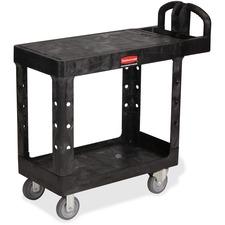 RCP 450500BK Rubbermaid Comm. HD Flat Shelf Utility Cart  RCP450500BK