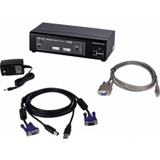 Connectpro UR-12-PLUS-KIT 2 port VGA KVM with Cables