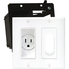 Midlite Décor Recessed Receptacle Hi-Lo Kit - White