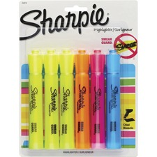 Sharpie Highlighter - Tank - Chisel Marker Point Style - Yellow, Blue, Orange, Pink - 6 / Pack