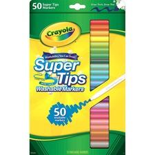 CYO 585050 Crayola Super Tips 50-ct Washable Markers CYO585050