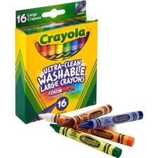 CYO 523281 Crayola Ultra-Clean Washable Large Crayons  CYO523281