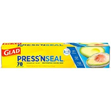 Glad Press'n Seal All-surface Wrap - Durable, Freezer Safe, Microwave Safe, Cutting Edge - Plastic - Clear