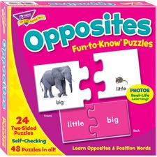 TEP T36004 Trend Fun-to-Know Opposites Puzzles TEPT36004