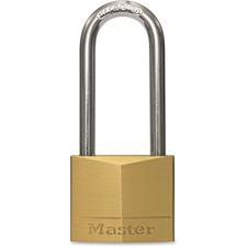 "Master Lock 140DLH Padlock - Keyed Different - 0.25"" (6.35 mm) Shackle Diameter - Corrosion Resistant - Solid Brass Body, Hardened Steel Shackle - 1 Each"