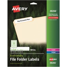AVE48266 - Avery&reg EcoFriendly Permanent File Folder Labels