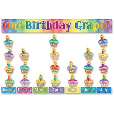 SHS 0439492815 Scholastic Res. Our Birthday Graph Bulletin Set SHS0439492815