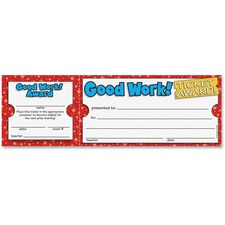 Scholastic Res. Good Work Ticket Awards