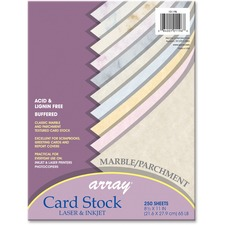 PAC 101196 Pacon Marble Assortment 65 lb Textured Cardstock PAC101196