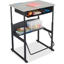 SAF1202BE - Safco AlphaBetter Desk, 28 x 20 Standard Top with Book Box