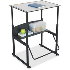 """Safco AlphaBetter Desk, 28 x 20 Premium Top, with Book Box - Gray Rectangle, Laminated Top x 28"""" Table Top Width x 20"""" Table Top Depth - 42"""" Height - Assembly Required"""