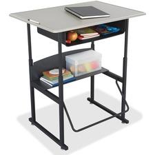 """SAF 1207BE Safco 36"""" Adj-ht Stand-Up Book Box Student Desk SAF1207BE"""