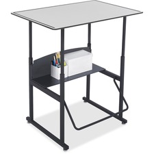 """Safco AlphaBetter Desk, 36 x 24 Premium Top, w/o Book Box - Gray Top x 36"""" Table Top Width x 24"""" Table Top Depth x 0.4"""" Table Top Thickness - 42"""" Height - Assembly Required"""