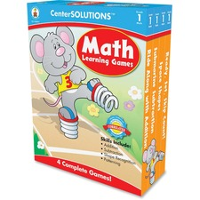 CDP 140051 Carson Grade 1 CenterSolutions Math Learning Games CDP140051
