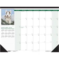 HOD 1996 Doolittle Earthscapes Puppies Desk Pad HOD1996