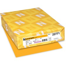WAU 22771 Wausau Astrobrights Assorted 65lb Card Stock WAU22771