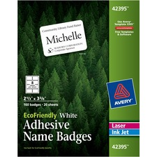 AVE42395 - Avery&reg EcoFriendly Adhesive Name Badge Labels