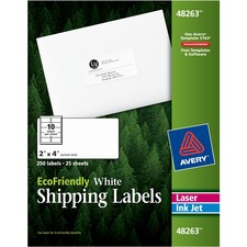 AVE48263 - Avery&reg EcoFriendly Shipping Labels