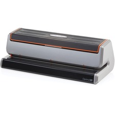 "Swingline Optima 20 Electric Three-hole Punch - 3 Punch Head(s) - 20 Sheet Capacity - 9/32"" Punch Size - Black, Silver, Translucent"