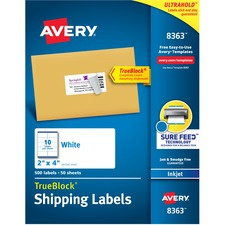 AVE8363 - Avery® Shipping Labels with TrueBlock Technology