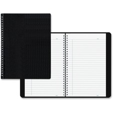 """Blueline Duraflex Notebook - Letter - 160 Sheets - Twin Wirebound - Ruled - 11"""" x 8 1/2"""" - Black Cover Textured - Poly Cover - Micro Perforated, Flexible Cover, Wear Resistant, Tear Resistant - Recycled - 1Each"""