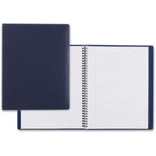 """Blueline Duraflex Notebook - Letter - 160 Sheets - Twin Wirebound - Ruled - 8 1/2"""" x 11"""" - Blue Cover Textured - Poly Cover - Micro Perforated, Flexible Cover, Wear Resistant, Tear Resistant - Recycled - 1Each"""